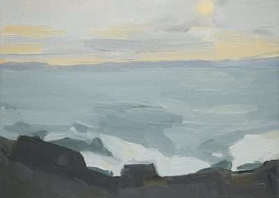 Beau Carey, Quoddy Head State Park, 2019, oil on paper, 5.5 x 7.5 inches: image