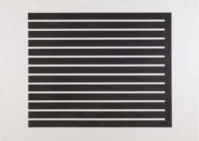 Donald Judd, Untitled, 1980, etching with aquatint in black on etching paper 28.75 x 33.75 inches: paper, 32 x 37 inches: framed, Edition 12/150