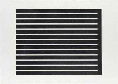Donald Judd, Untitled, 1980, etching with aquatint in black on etching paper, 28.75 x 33.75 inches: paper, Edition of 150