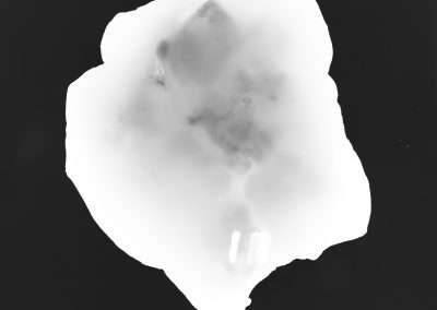 Shoshannah White, Blackstone Glacier Ice #2, 2016, silver gelatin photogram, 14 x 11 inches:image, 15.5 x 12.5 inches: frame