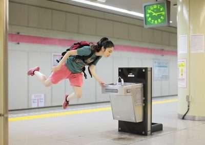 Natsumi Hayashi, Today's Levitation, 5/6/2011, 2011 lambda print, 20 x 24 inches, Edition of 3