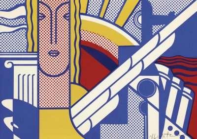 Roy Lichtenstein, Modern art poster, 1967, color silkscreen, 8 x 11 inches: image, Edition ed./300