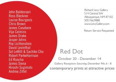 Red Dot, holiday print sale at Richard Levy Gallery
