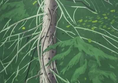 Alex Katz, Spruce, 1994, aquatint, 46 x 35 inches: image, 53 x 42 inches: frame