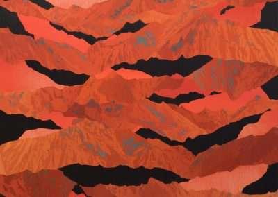 Beau Carey, Red Twilight, 2020, 48x 56 inches