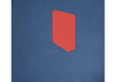 Jeff Kellar, Shade Blue Red, 2020, resin, clay and pigment on aluminum composite panel, 24 x 19 inches:panel