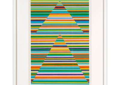 Matt Magee, Double Pyramid Thought Form, 2020, oil on aluminum, 18 × 12 in