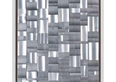 Matt Magee, Planeshift 1, 2020, aluminum on stee plate, 13 × 10 in