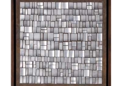 Matt Magee, Alberta, 2020, aluminum on copper plate, 10.5 × 10.5 inches