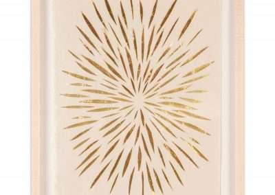 Matt Magee, Small Burst, 2020, gold foil on mulberry paper, 15 × 10.25 inches